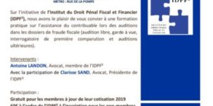 thumbnail of Réunion technique 18 avril 2019 IDPF² Auditions du contribuable